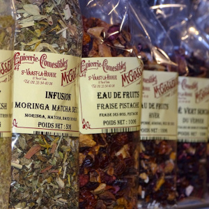 Infusions, eaux de fruits, rooibos
